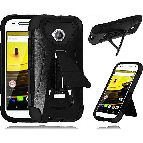 (Motorola Moto E 4G LTE (2015, 2nd Generation) LF Transforma Designer 3D Fusion Case , Stylus Pen, Screen Protector & Wiper Bundle (Fushion Black))