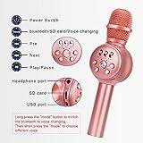 BONAOK Wireless Bluetooth Karaoke Microphone with