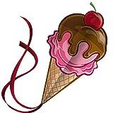 Kite Cometa Sweet Ice Cream para Niños - despega a la más leve brisa - Lo mejor para Juegos de Playa - alta durabilidad - Cadena libre, carrete y libro electrónico - Fácil Flyer Con la garantía de por vida