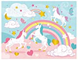 Floor Puzzles - 100-Piece Giant Floor Puzzle, Rainbow Unicorn Jumbo Preschool Jigsaw Puzzles for Toddlers, Toy Puzzles for Kids Ages 3 and up, 27 x 36 inches