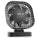 OPOLAR AA Battery Operated Desk Fan with Timer, 3 Speeds, Adjustable Head - USB or AA Battery Powered, Perfect for Study Room, Office, and Bedroom