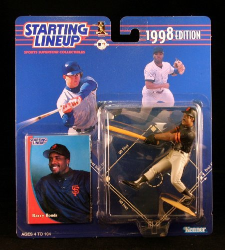 BARRY BONDS / SAN FRANCISCO GIANTS 1998 MLB Starting Lineup Action Figure & Exclusive Collector Trading Card