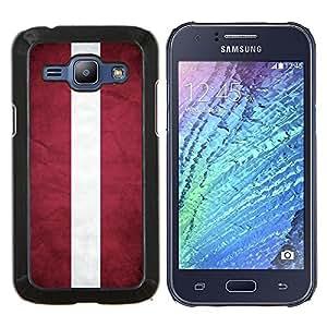 BearCase / Cubierta de protección Caso duro de la contraportada de Shell Plástico /// Samsung Galaxy J1 J100 /// Nacional bandera de la nación País Letonia