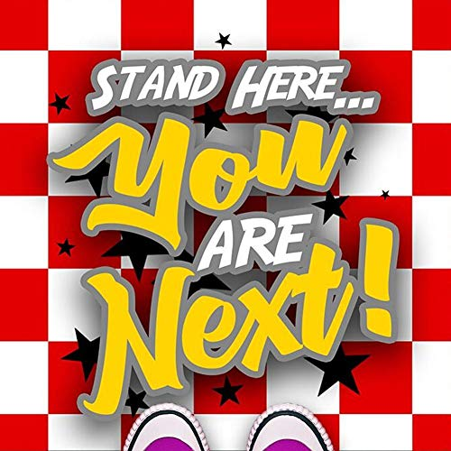 Next In Line Mat - Red and White Checkers (24