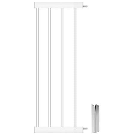Cumbor Baby Gate Extension,11-Inches Fits All Cumbor Auto Close Safety Baby Gate,White