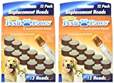 PediPaws 2 Packs of 12 Replacement Filing Heads