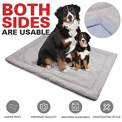 (Allisandro Dog Bed Mat | Super Soft Anti-Slip Pet Crate Pad - Washable Dog Mattress for Dogs & Cats,)
