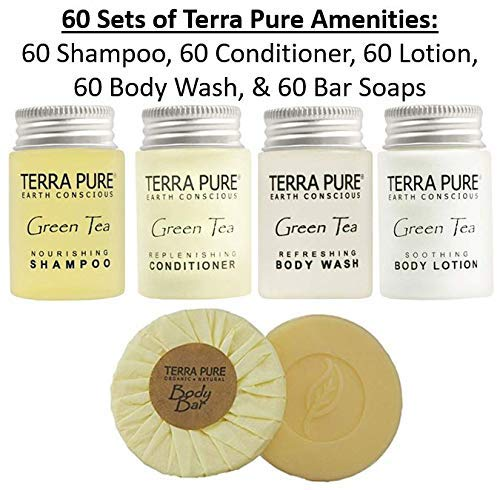Terra Pure Green Tea All-In-Kit Hotel/Vacation Rental Amenities Set (300 pcs) by Terra Pure (Image #2)