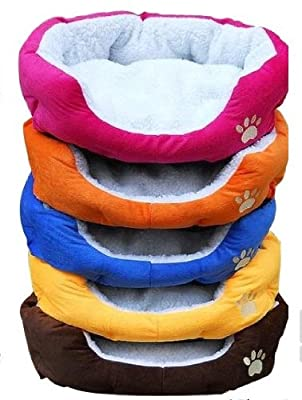 Unique Soft Warm Indoor Pet Puppy Sofa House Bed Sherpa Cotton Fossa Dog Cat Pet Bed Pink Orange Brown Blue Yellow