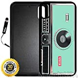 Custom iPhone X/XS Case (Kodak Instamatic Mint) Edge-to-Edge Rubber Black Cover with Shock and Scratch Protection   Lightweight, Ultra-Slim   Includes Stylus Pen by INNOSUB