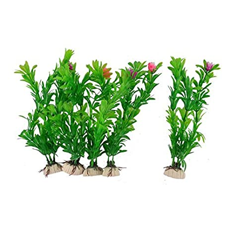 DealMux cerámica plástico Base pecera submarino artificial Planta 5PCS Agua: Amazon.es: Productos para mascotas