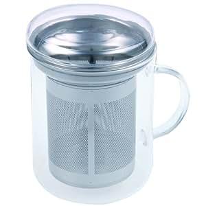 Chg 3404-00 - Tetera con filtro de té (cristal y acero inoxidable, 400 ml, 8,5 cm x 10 cm)