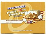 Pure Protein Bar, Peanut Marshmallow Eclipse, 6 Bars, 1.76 Ounces (Pack of 12)
