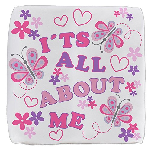 (Royal Lion 13 Inch 6-Sided Cube Ottoman Pink Butterflies It's All About Me)