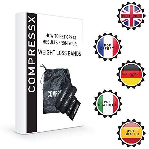 COMPRESSX 4 Piezas Mangas Adelgazantes Ajustables para Brazos y Muslos - Set Completo Mangas para Pérdida de Peso y Tonificar - Pueden ser usadas con ...