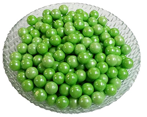 Gumballs Glimmer Green Bubble Gum 2 Pounds 0.5 inch Mini (Colored Gumballs)