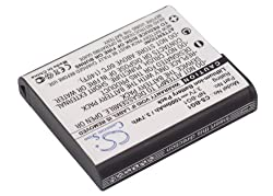 Battery2go - 1 Year Warranty - 3.7v Battery For Sony Cyber-shot Dsc-h20, Cyber-shot Dsc-w40, Cyber-shot Dsc-w100