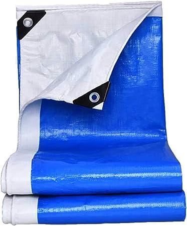 WGE Lona Heavy Duty Tela Impermeable, Espesar 0.3mm Azul Y Blanco Lonas PE, Gran For La Cubierta De Carga Otoño Invierno Al Aire Libre, Construir Cochera Simple Cobertizo (Size : 4×6m): Amazon.es: