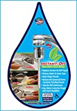 INSTANT-OFF ECO Universal Water Saver Automatically Shuts Off Water! Push Rod for Water-Release Rod Water Instantly Stops. Replaces Aerator, Stops Drippy Faucets, Option for continuous water flow.