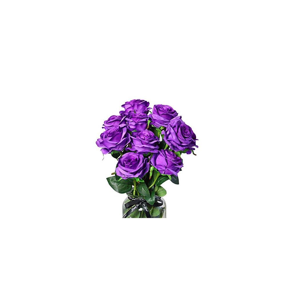 DuHouse-10pcs-Silk-Roses-Artificial-Flowers-Fake-Arrangement-Wedding-Party-Home-Decoration