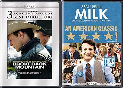 Modern American Drama Collection - Brokeback Mountain & Milk starring Sean Penn 2-DVD Bundle