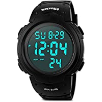 Mens Military Digital Sport Watch Waterproof Outdoor Electronic Army LED Back Light Display Alarm Stopwatch 50M...