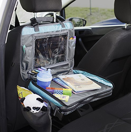 ORGANIZED EMPIRE's Detachable 4 in 1 Car Seat Travel Tray, Storage Organizer, Carry Bag & Tablet Holder for kids all in one. Most stable back seat Snack Tray on the market, no balancing required by Organized Empire (Image #8)