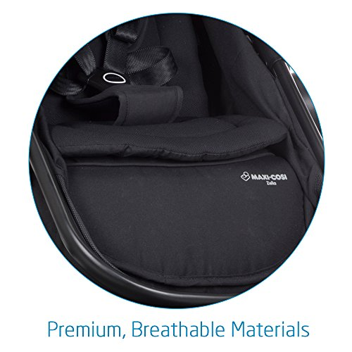 Maxi-Cosi Zelia 5-in-1 Modular Travel System Stroller and Mico 30 Infant Car Seat Set (Night Black) by Maxi-Cosi (Image #6)