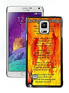 Popular And Durable Designed Case With firefighter prayer Black For Samsung Galaxy Note 4 N910A N910T N910P N910V N910R4 Phone Case