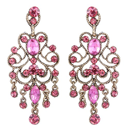BriLove Vintaged Chandelier Filigree Earrings product image