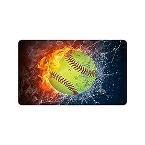 Xinzuo entrada Felpudo para interiores de béisbol al aire libre Felpudo antideslizante Felpudo 18por 30pulgadas Máquina lavable tela no tejida