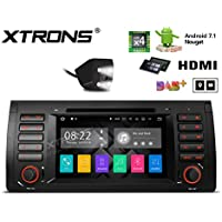 XTRONS HDMI Android 7.1 Quad Core 7 Inch HD Digital Touch Screen Car Stereo Radio DVD Player GPS for BMW X5 E53 1999-2006 Reversing Camera