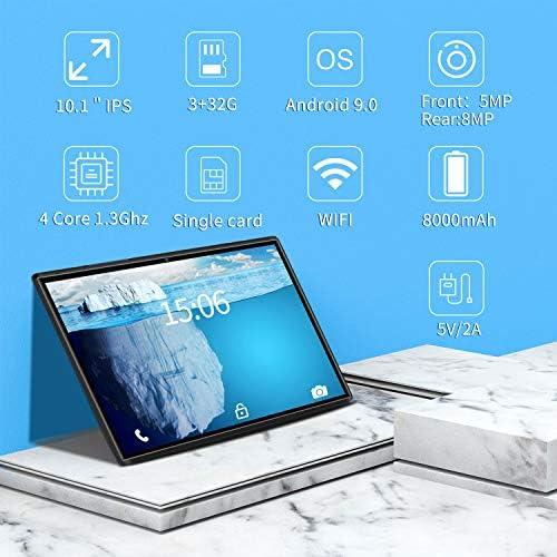 10.1 inch Tablet with Keyboard Case Quad-Core 1.3Ghz Processor, 3 GB RAM, 32 GB Storage, Android 9.0 (Go Edition) 1280×800 IPS HD Display, 8MP Rear Camera, Bluetooth, Wi-Fi, USB, GPS-Black 51DkGfKovRL