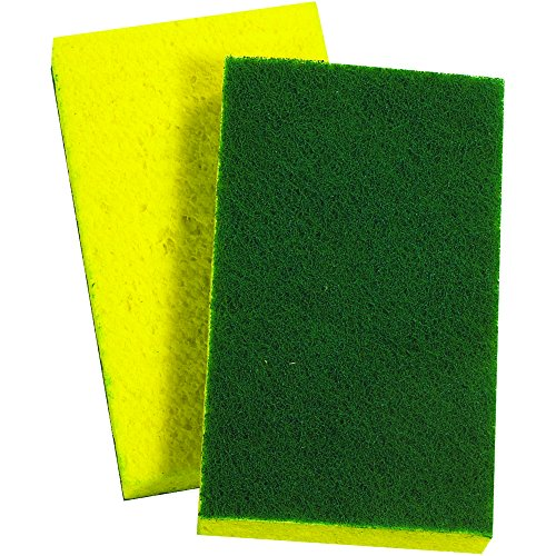 Ship Now Supply SNMROS3M109 3M Scotch-Brite Scrub Sponge 74, 3.6'' width, 6.1'' Length, green/Yellow (Pack of 20) by Ship Now Supply
