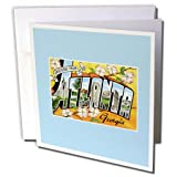 3dRose Greetings from Atlanta Georgia Bold Letters With Scenes of the City - Greeting Cards, 6 x 6 inches, set of 12 (gc_169763_2)