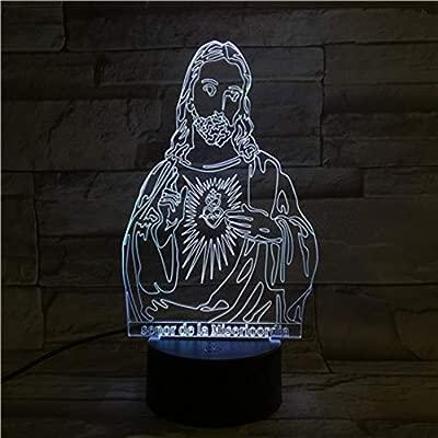Lámpara De Mesa 3D Con Control Remoto Interruptor De Luz ...