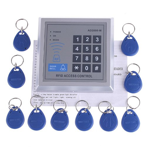 KKmoon RFID Proximity Door Entry Access Control System + 10 Key Fobs (Style 1) by KKmoon