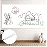 White Board Sheet -- Dry Erase Board Sticker For Home, Office & Stores, White Board Sticker Size 17.7278.74inch, made of ECO-Friendly PVC, Good For Kids Education & DIY Works
