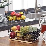 SunnyPoint 2-Tier Rectangle Countertop Fruit, Bread