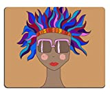MSD Natural Rubber Mousepad Girl in sunglasses with colorful hair IMAGE 22608660