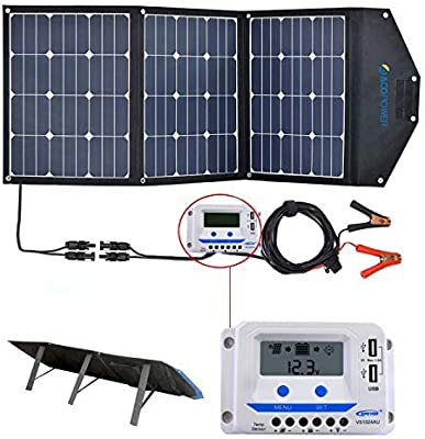 Acopower 120w Portable Solar Panel 12v Foldable Solar Charger With 10a Lcd Charge Controller In Suitcase Amazon Com Au Electronics