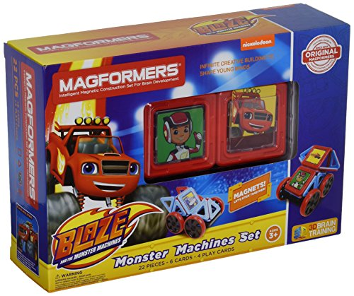 Toy Dune Buggies - Magformers Nickelodeon Blaze Monster Machines (22 Piece) Set Magnetic    Building      Blocks, Educational  Magnetic    Tiles Kit , Magnetic    Construction  STEM Toy Set