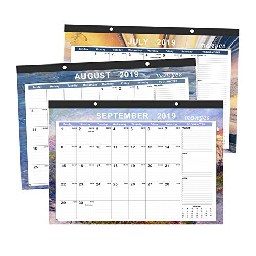 Wall Desktop - MONYES Desk Calendar July 2019-2020, 16.8
