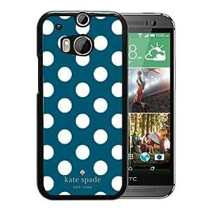Unique Designed Kate Spade Cover Case For HTC ONE M8 Black Phone Case 289