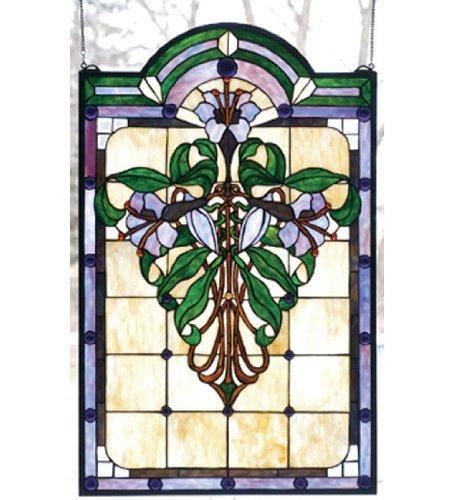 Tiffany Floral Nouveau Nouveau Lily Stained Glass - Window Nouveau Lily Windows