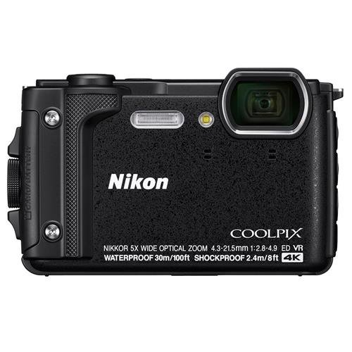 "Nikon W300 Waterproof Underwater Digital Camera with TFT LCD, 3"", Black (26523)"