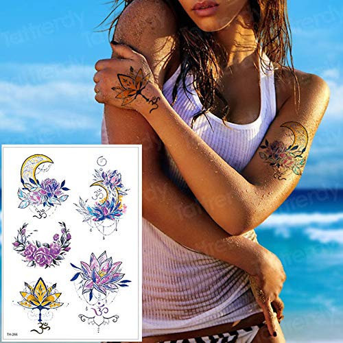 tzxdbh Tatuajes temporales Tatuajes Impermeables Mujeres Cuerpo ...