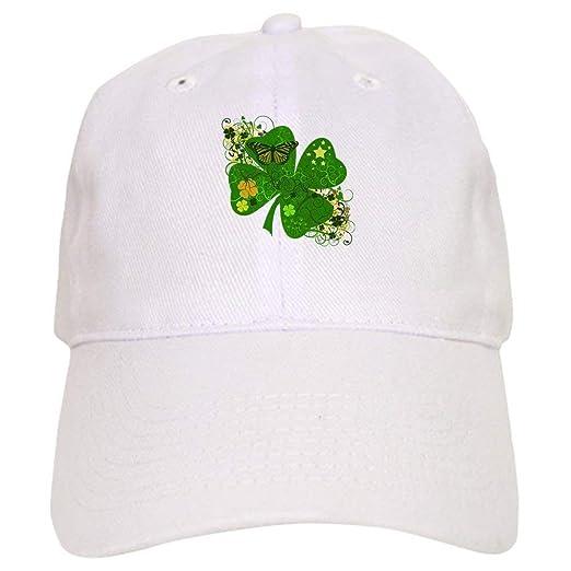 Amazon.com  - Lucky 4 Leaf Clover Irish - Baseball Cap with ... 2dafac0a1b6
