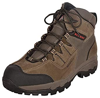 e08c47dc3a4 RED WING Men's Brown Leather Safety Shoes - 9 UK: Amazon.in: Amazon.in