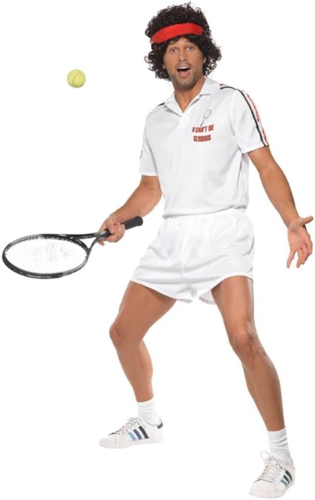 Smiffys - Disfraz de tenista para Hombre, Talla 42 - 44 (29815L ...